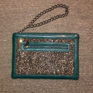 Leather Express Clutch Wristlet